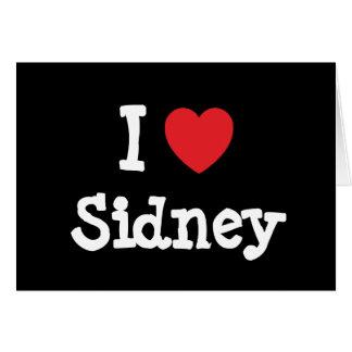 I love Sidney heart T-Shirt Cards