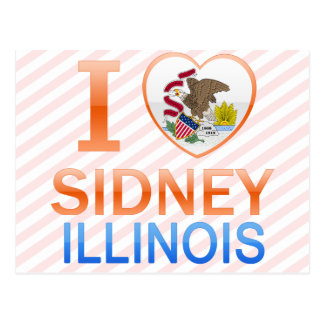 I Love Sidney, IL Post Cards