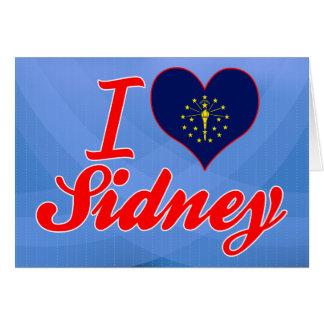 I Love Sidney, Indiana Greeting Card