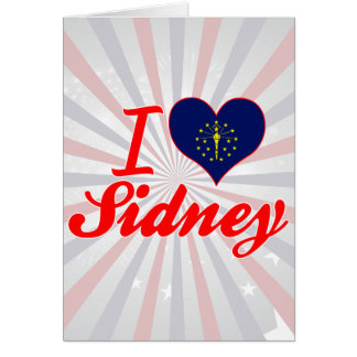 I Love Sidney, Indiana Greeting Card