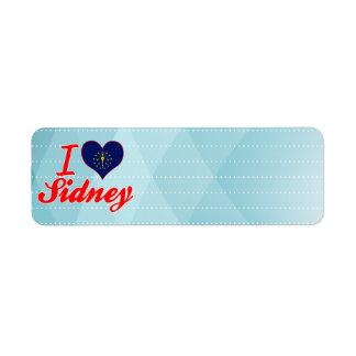 I Love Sidney, Indiana Return Address Label