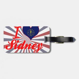 I Love Sidney Indiana Luggage Tag