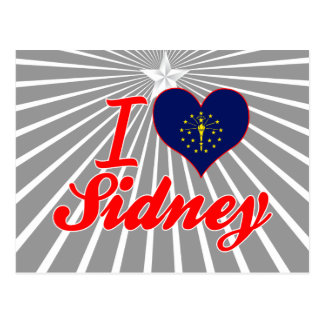 I Love Sidney, Indiana Post Cards