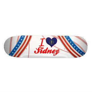 I Love Sidney Indiana Skate Board Deck