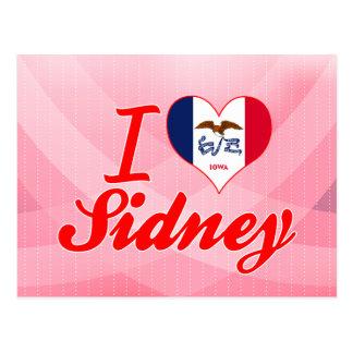 I Love Sidney Iowa Post Card
