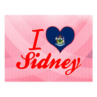I Love Sidney, Maine Post Card