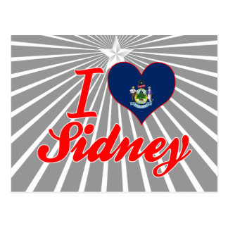 I Love Sidney Maine Postcards