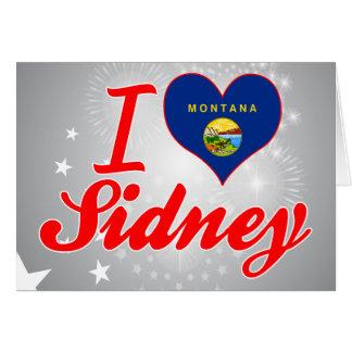 I Love Sidney, Montana Greeting Card