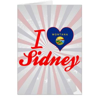 I Love Sidney Montana Greeting Card
