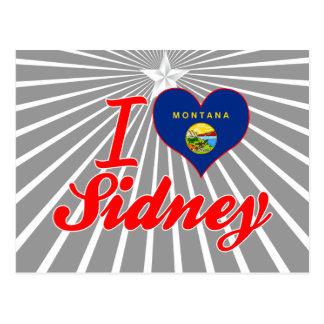 I Love Sidney Montana Post Card