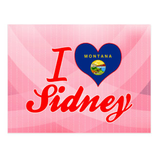 I Love Sidney, Montana Post Cards