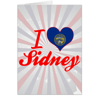 I Love Sidney Nebraska Greeting Card