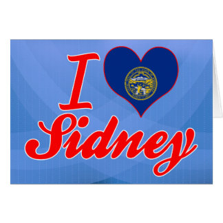 I Love Sidney Nebraska Card