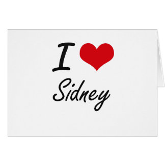 I Love Sidney Note Card