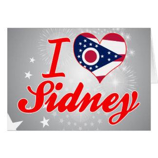 I Love Sidney, Ohio Greeting Card