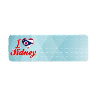 I Love Sidney, Ohio Return Address Label
