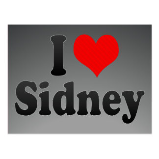 I love Sidney Post Card