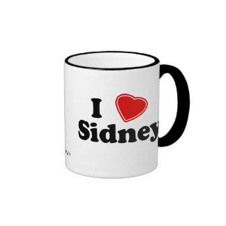 I Love Sidney Ringer Mug