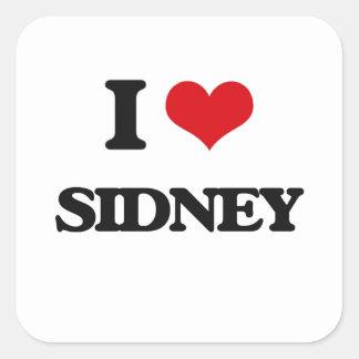 I Love Sidney Square Sticker