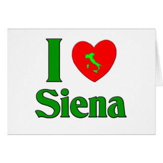 I Love Siena Italy Card