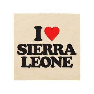I LOVE SIERRA LEONE WOOD WALL DECOR