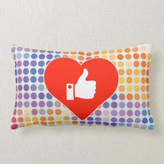 I Love Sign Lumbar Pillow