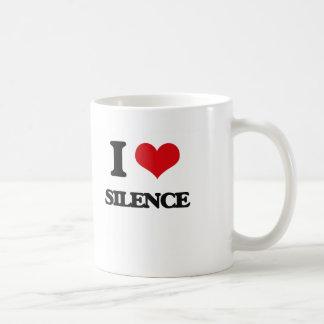 I Love Silence Coffee Mug