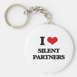 I Love Silent Partners Basic Round Button Key Ring