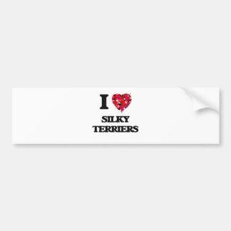 I love Silky Terriers Bumper Sticker