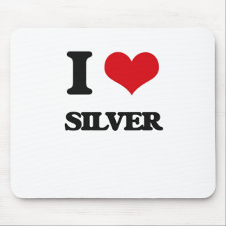 I Love Silver Mouse Pad