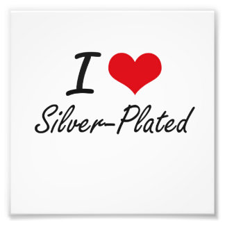 I Love Silver-Plated Photo Art