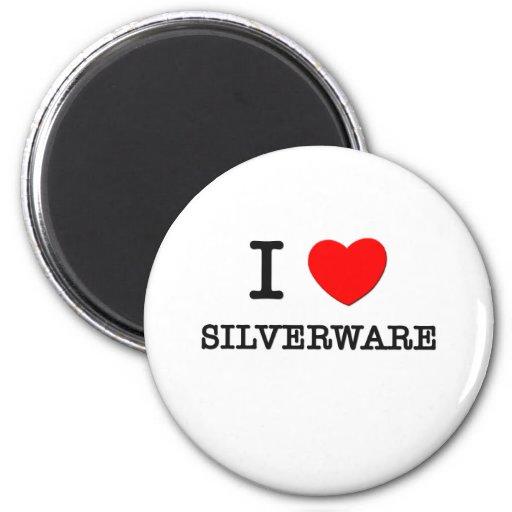 I Love Silverware Refrigerator Magnets