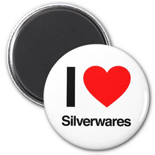 i love silverwares refrigerator magnet