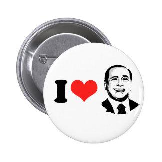 I Love Silvio Berlusconi Pinback Buttons