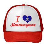 I Love Simmesport, Louisiana Mesh Hat