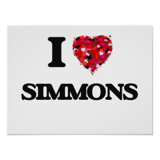 I Love Simmons Poster