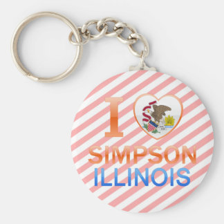I Love Simpson, IL Key Chain