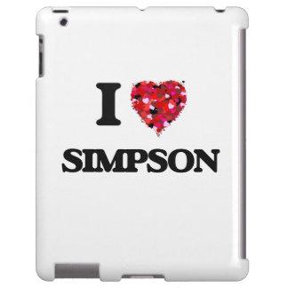 I Love Simpson iPad Case