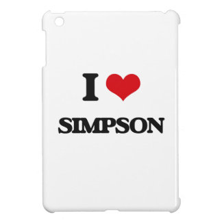 I Love Simpson iPad Mini Cover
