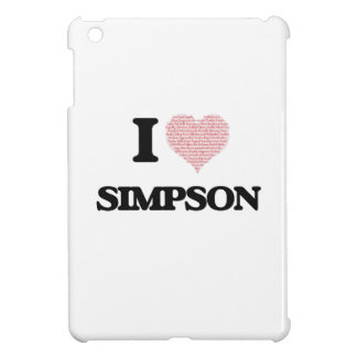 I Love Simpson iPad Mini Covers