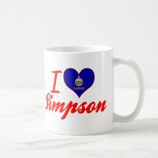 I Love Simpson Kansas Coffee Mugs