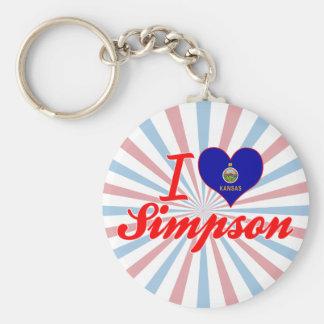 I Love Simpson Kansas Key Chains
