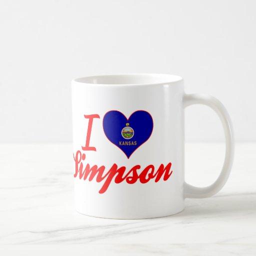 I Love Simpson, Kansas Coffee Mugs