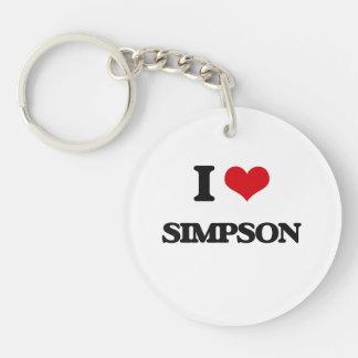 I Love Simpson Single-Sided Round Acrylic Key Ring
