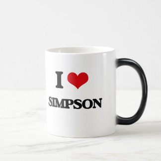 I Love Simpson Morphing Mug