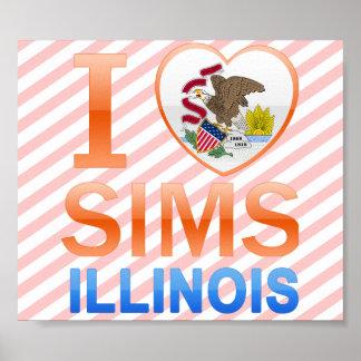 I Love Sims IL Print