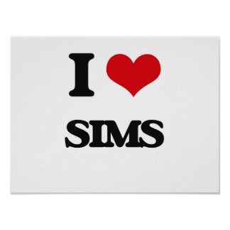 I Love Sims Poster