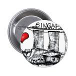 I love Singapore 6 Cm Round Badge