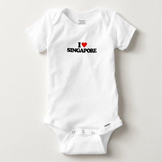 I LOVE SINGAPORE BABY ONESIE