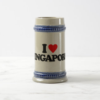I LOVE SINGAPORE BEER STEINS